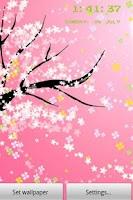 Screenshot of flower5 Live Wallpaper lite