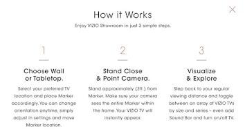 Screenshot of VIZIO Showroom