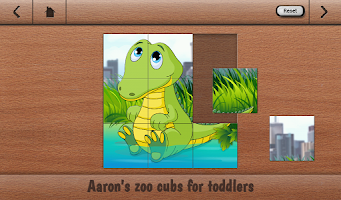 Screenshot of Aaron's Cute Zoo Cubs Puzzles