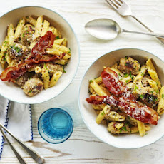 Crispy Bacon & Sausage Carbonara