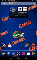 Screenshot of Florida Gators Live Clock