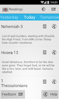Screenshot of Daily Bible Reading