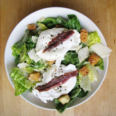 Sunday Brunch: Caesar Salad Topped with Poached Eggs