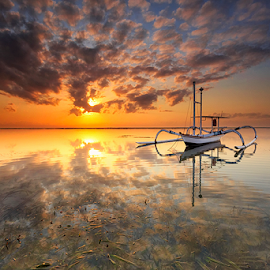 Scaly Clouds by Gede Suyoga - Landscapes Cloud Formations ( clouds, waterscape, sunrise, landscape )