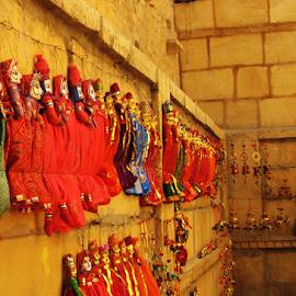 Rajasthani Puppet by Amit Kumar Ghosh - City,  Street & Park  Markets & Shops ( shop, jaisalmer, rajasthan, handicrafts, stree, puppe )