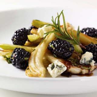 Roasted Fennel Salad with Blackberries