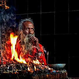 Home Of God by Samanwaya Biswas - People Portraits of Men