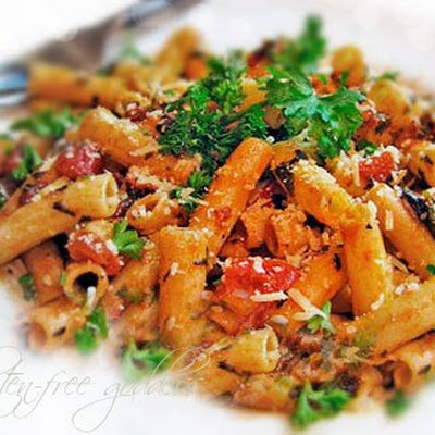 Penne Arrabiata Recipe with Brown Rice Pasta
