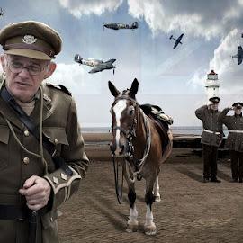 British Army by Danny Jackson - Digital Art People ( salute, army, british, horse, planes, war,  )