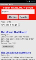 Screenshot of nQueue for Netflix