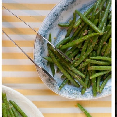 Piccata -style Green Beans with lemon and capers