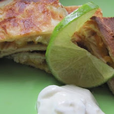 Pepper Jack, Chicken and Peach Quesadillas