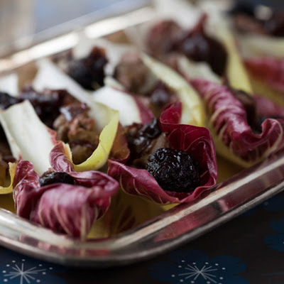 Endive with Chicken Liver Pâte and Dried-Cherry Marmalade