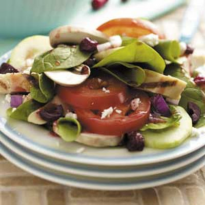 Raspberry Greek Salad