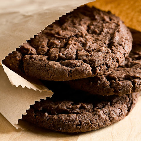Chocolate Chocolate Cookies with Cookie Crumbs