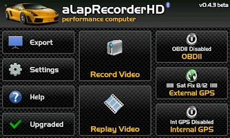 Screenshot of aLapRecorder Upgrade