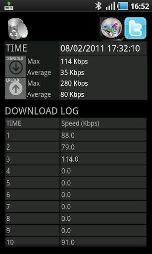 tci-speedtest for android screenshot