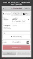 Screenshot of Westpac Corporate Mobile