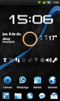 Screenshot of GO Launcher Theme Black & Blue