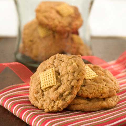 Chewy Peanut Butter Cereal Cookies