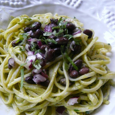 Linguine with Smoky Avocado Sauce