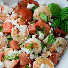 Shrimp and Watermelon Salad