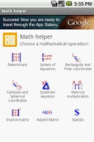 Screenshot of Math helper