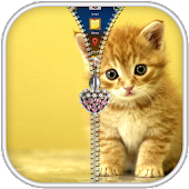 Kitty Zipper Screen Lock APK for Bluestacks