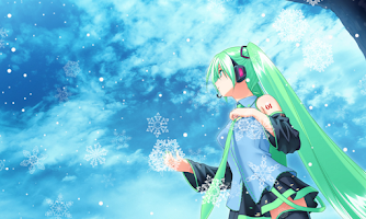 Screenshot of Snow Miku Live Wallpaper