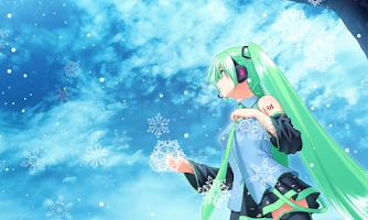 Screenshot of Snow Miku Live Wallpaper