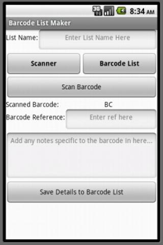 Barcode List Maker