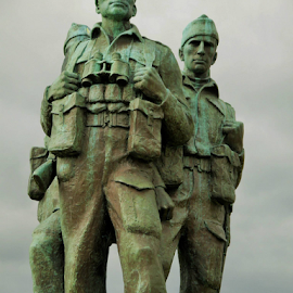 Commando Memorial Spean Bridge Scottish highlands. by John Card - Buildings & Architecture Statues & Monuments