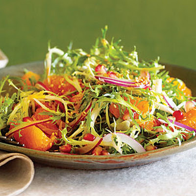Frisée, Tangerine, and Sesame Salad