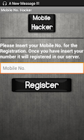 Screenshot of Mobile Number Hacker Prank