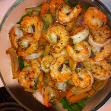 Warm, Spicy, Shrimp Salad