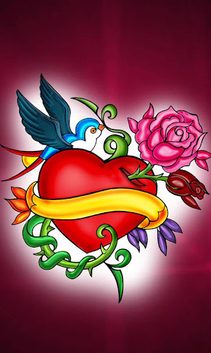 Tattoo Heart Art theme 480x800