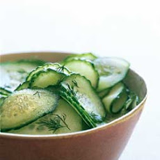 Sweet-and-Sour Cucumbers with Fresh Dill