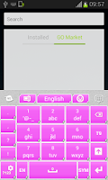 Screenshot of Pink Keyboard Stickers
