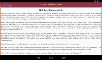Screenshot of 200+ Kisah Sahabat Nabi