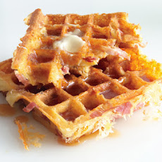 Ham-and-Cheese Waffles