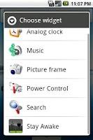 Screenshot of Stay Awake Widget