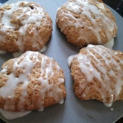 Apple Spiced Glazed Cookies