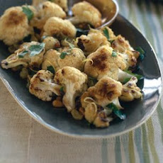 Roasted Cauliflower with Pine Nuts and Raisins