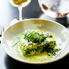 Roasted Halibut with Chervil Sauce