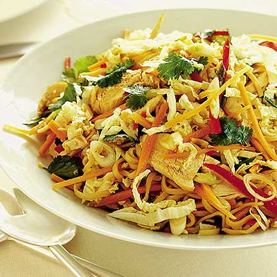 Warm Thai chicken & noodle salad