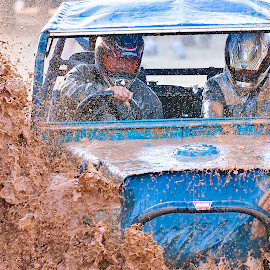 4x4 Rally through Mud by Bill Walmisley - Sports & Fitness Other Sports ( water, mud, driver, helmet, landrover )
