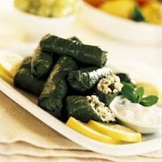 Grape Leaves Stuffed with Rice and Currants