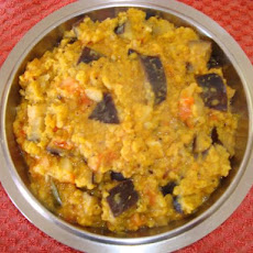 Indian Dhal With Tomato and Aubergine