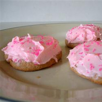 Pink Icing Cookies
