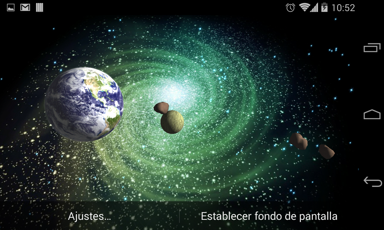 3D Galaxy Live Wallpaper Full Screenshot 8